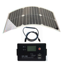 Wholesale sunpower flexible solar panel 18W +12V&24V Aoto with USB solar charge controller, solar power supplier, solar system.(China)