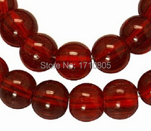 Fashion Jewelry Charm 100PCS Beautiful Dark Red Glass Beads Small Hole Findings For Bracelet&Necklace Free Shipping A758