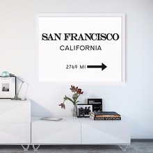 San Francisco Print California City Sign Modern Print Art Posters Canvas Art Painting Wall Pictures for Living Room, No Frame(China)