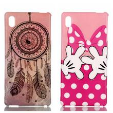 Feather butterfly Sunset Campanula Skull Star lip Pattern TPU Back Cover Protection Phone Case For Sony Xperia M4 Aqua