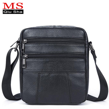 Small Genuine Leather Bag Men Bag Shoulder Crossbody Bags For Men Messenger Bag Men Leather Handbag Black Mens Leather Briefcase