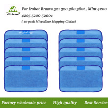 Microfiber Pro-Clean Mopping Cloths for Braava 320 Floor Mopping Robot for irobot Braava 380 380t Minit 4200 5200 5200C Cloths(China)