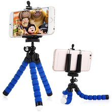 Stretch Universal Adjustable Cell Phone Tripod Octopus Holder Stand with Mount Adapter for iPhone  Smartphone Camera etc.