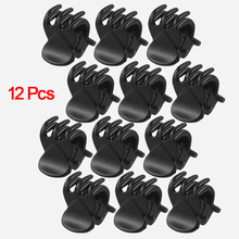 NEW Newest 12 Pcs Black Plastic Mini Hairpin 6 Claws Hair Clip Clamp for Ladies(China)