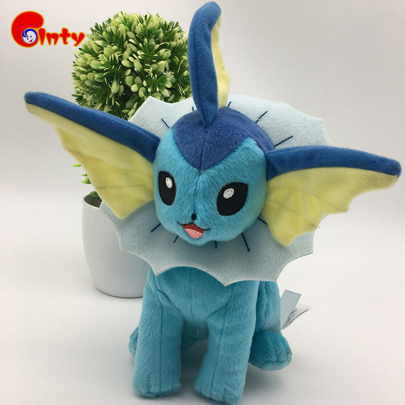 2017 New Hot Anime Characters Vaporeon Plush Toys 25cm Soft PP Cotton Stuffed Animals Toy Cartoon Baby Toys Action Figure Dolls(China (Mainland))