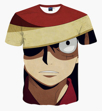 New Japanese anime One Piece character Monkey D. Luffy 3d t-shirt men harajuku cartoon t shirts casual tees tops
