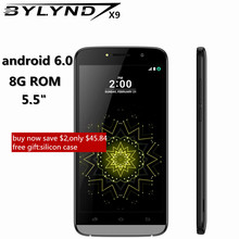 "Original hot sale cheap celular BYLYND X9 Android 6.0 5.0mp SmartPhones big screen quad core 5.5"" mobile Phone unlocked gifts(China)"
