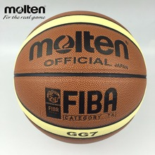 Official Size 7 Molten GG7 Basketball Ball Top Quality PU Leather Basketball For Women&Teenager Indoor Training Net+Needle+Pin