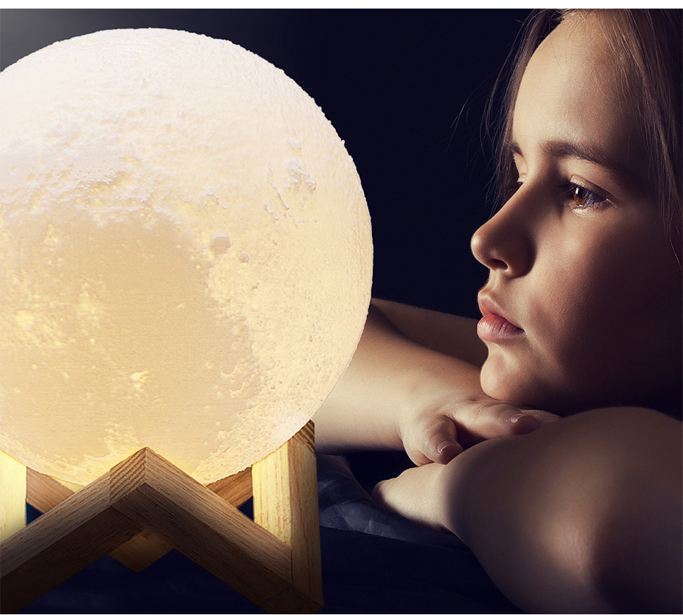 Foxanon 3D Print Moon Light Earth Lamps Rechargeable Color Change Touch Sensor Switch Remote Used as Home Table Lamp Decoration (13)