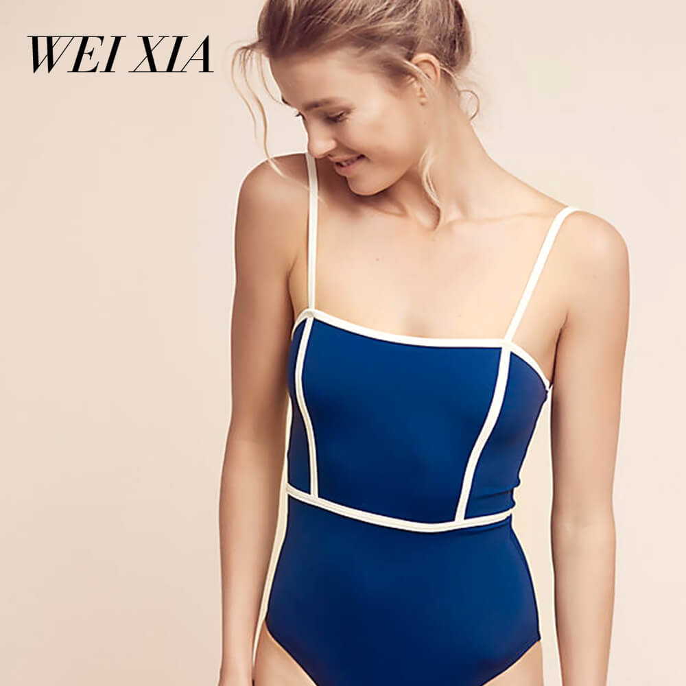 WEIXIA Hot Sexy One Pieces Solid Up Sexy Women Back tape cross Swimwear 1769<br>