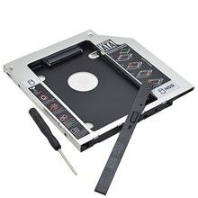 "Universal Aluminum HDD Caddy 9.5mm SATA To SATA 3.0 2.5"" SSD HDD Case Enclosure For Laptop CD-ROM DVD-ROM Optical Bay"