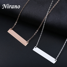 Nirano Personalized Laser Engraved Bar Necklaces & Pendants Stainless Steel Custom Name Necklace Uniqet Gifts Etsy Supplier(China)
