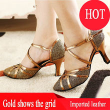 Ballroom Shoes Latin Dance Shoes Woman Screen Gold Color Sequins Soft bottom Jazz Adult Aerobics Dancing Sneakers Coupons QJ1005(China)