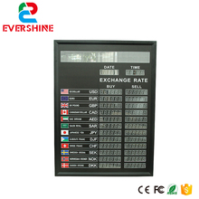Bank Currency Exchange Rate LED Board for Multilingual Led Dispaly Panel 6 digit number(China)