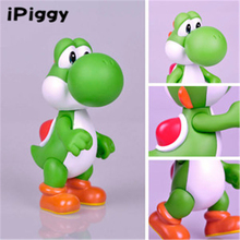 "Free Shipping New Super Mario 5"" Yoshi Green Action Figure Toy"