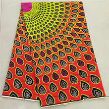 Wholesale price 6yards/pcs african clothing ,textile fabric meter,super hollandais wax fabric real dutch wax fabric Nan4-2