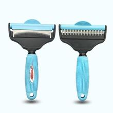 NEW All Breed Hair Remover Comfortable Pet Groomer Cat Dog Comb Grooming Dual-Use Massage size L(China)