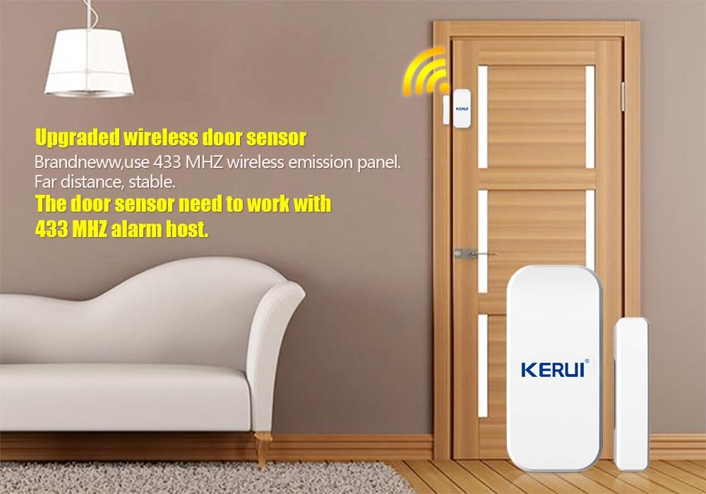 Tienda F/ácil Instalaci/ón para la Seguridad de los Ni/ños Oficina Garaje KERUI Sensor Alarma de Puerta//Ventana para el Sistema de Alarma Antirrobo KERUI WG11 Hogar Apartamento 433 MHz