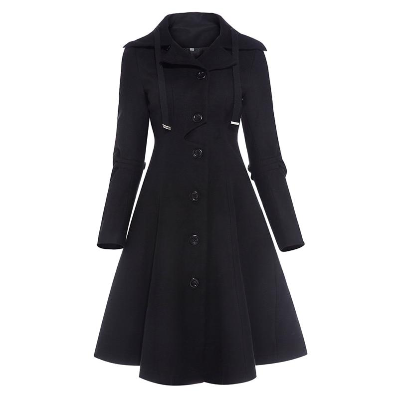 Sisjuly Womens Casual Coat 2017 New Autumn Winter Solid Full Sleeve Coat Single-Breasted Slim Long Coat Elegant Casual CoatÎäåæäà è àêñåññóàðû<br><br>