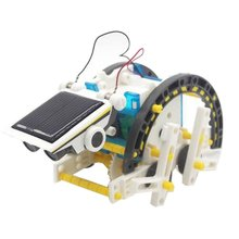 Solar Robot 14 In 1 DIY Educational Robot DIY Toy Assembled puzzle Toys Car Boat Animal blocks Solar Powered For Children Funny