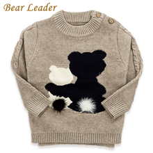 Bear Leader Kids Sweater 2017 New Autumn&Winter Cartoon Bear Round Neck Long Sleeve Sweater For Children Sweater 3-7 Years(China)