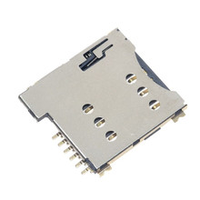 Self push SIM card slot Micro SIM Memory card Holder adapter connect use for GSM Module SIM800L SIM800C