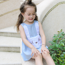 Girls Easter Dress Cute Bunny Style Rabbit Design Light Sky Blue Clothes for Teen Girls Sisters Age56789 10 11 12 13 14Years Old(China)