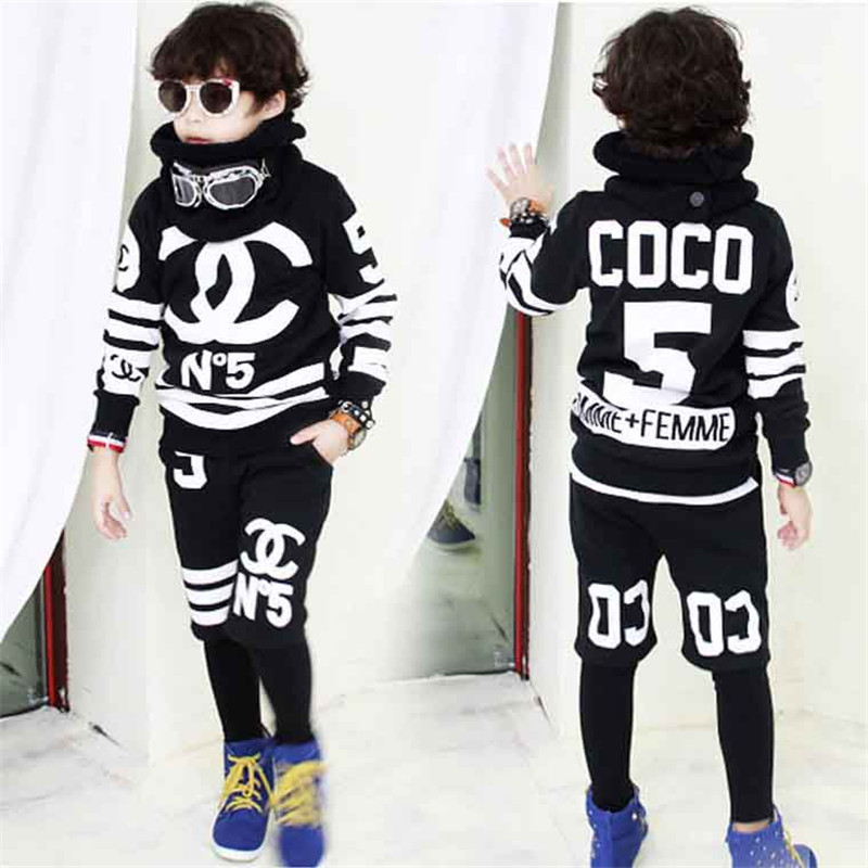 2017 Boys clothing set childrens sports suits cotton kids clothes suit boys tracksuit teenage girls clothing children fashion<br><br>Aliexpress