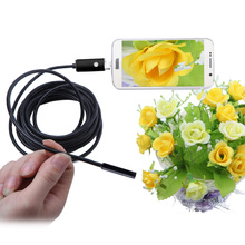 KKMOON 5.5mm 5m 2 in 1 Mini USB Endoscope microscope usb Borescope Inspection Camera digital magnifier for Android Phones PC
