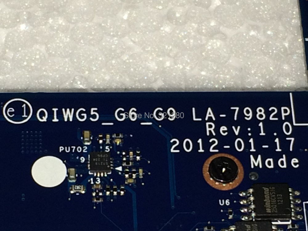 Bargaining FREE SHIPPING  New laptop Motherboard  LA-7982P REV : 1.0 For Lenovo G480 NOTEBOOK PC Mainboard  QIWG55_ G6_G9<br><br>Aliexpress