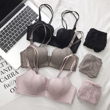 Buy Wasteheart Women Fashion Sexy Lingerie Set Lace Bra Cotton Panties Push Wireless Bra Sets Underwear B Luxury Seducive