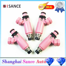 ISANCE 4pcs Fuel Injector Pink 16611-AA370 16611AA370 For Subaru Forester Impreza Liberty Legacy STI WRX 565c