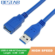 USB3.0 Extension Cable USB 3.0 Cable A Male to Female Data Sync Fast Speed Cord Connector for Laptop PC Printer Hard Disk(China)