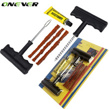 Onever Car Auto Tubeless Tire Repair Kit Bike Auto Tire Tyre Puncture Plug Repair Equipment Tool Kit Accessories for Any Cars