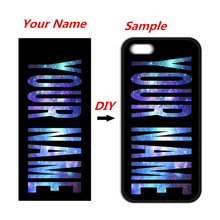 DIY Name Customized Cover Case for iPhone 4 4s 5 5s 5c 6 6s plus Samsung Galaxy A3 A5 A7 2016 S3 S4 S5 Mini S6 S7 Edge(China)