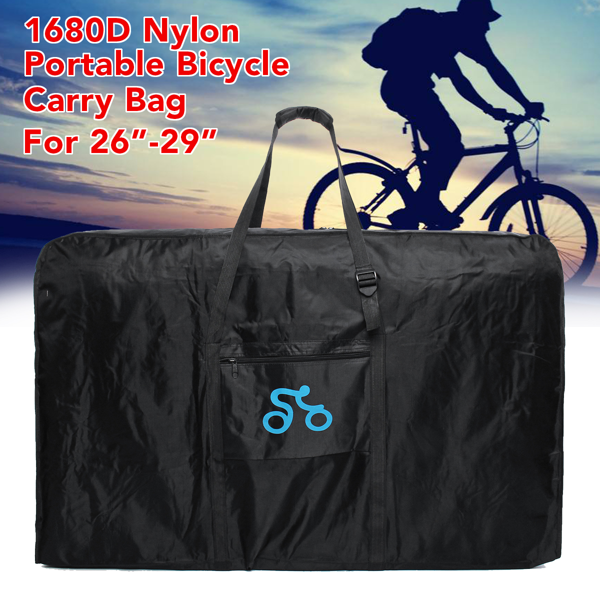 Road MTB Bike Bicycle Wheel Bag Carrier Transport Travel Case Handbag Portable