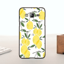 Plastic PC Cell Phone For  J3 case  Many Limon fruits jucie