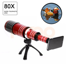Buy 2017 New 80X Metal Telephoto Lentes Zoom Lens iPhone 5 5s 6 6s 7 Plus Telescope Mobile Phone Camera Lenses Samsung Cases for $202.60 in AliExpress store