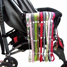 2PCS Toys Saver Fixed Stroller Accessory Strap Holder Bind Belt Baby Toys Anti-lost Baby Stroller Rope Hook For High Chair Seat