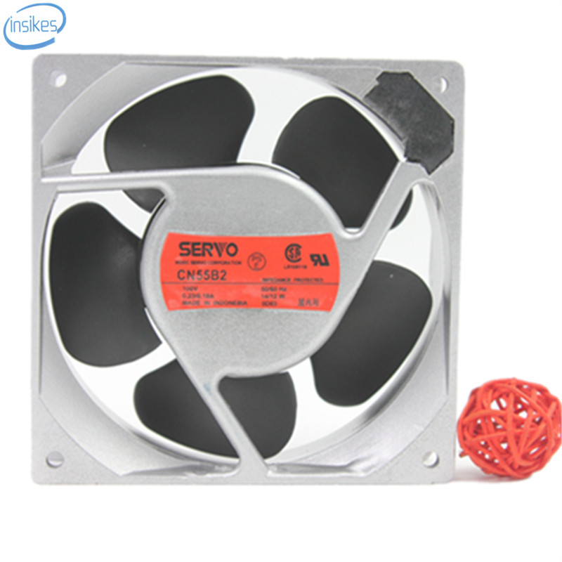 CN55B2 Aluminum Frame Cooling Fan AC 100V 0.23/0.19A 14/12W 2950RPM 12038 120*120*38mm <br>