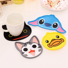 10*11cm Cartoon PVC Creative Cute Coaster Pad Insulation Mat Silicone Placemat Dining Table Decor Supplies Child's Gift 8Z