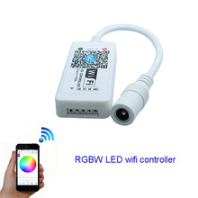 Wifi LED RGBW Controller DC12V mini controller for 5050 RGBW LED Strip module light free shipping