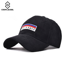 [COSPLACOOL] Corduroy baseball cap Autumn and winter cap men and women Letters embroidery curved eaves hip-hop cap
