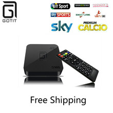 Europe Super Italy IPTV Android TV Box Amlogic S905 Quad Core Android 5.1 DDR3 1G WIFI 4K 1080 Kodi 16.0 add-ons Smart TV Box
