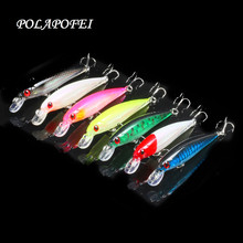 POLAPOFEI 7pcs Fishing Lure Hard Bait Fish Minnow Artificial Baits Fishing Wobbler Japan Pesca Lure Crankbait Kosadaka 8CM 8G C5