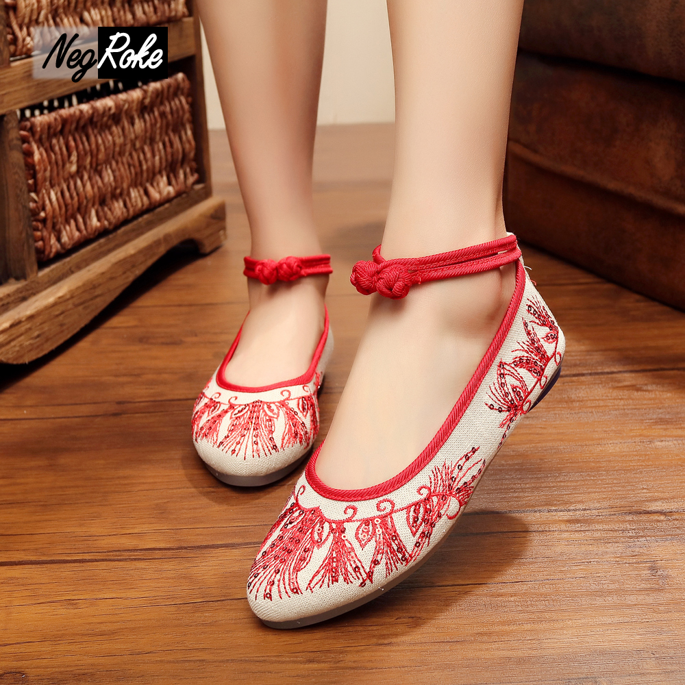 Fashion chinese embroidery shoes women ladies shoes canvas mary jane flats oxford shoes for women espadrilles zapatos mujer<br><br>Aliexpress