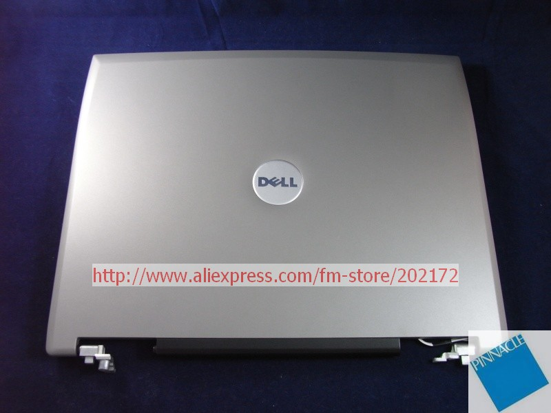 New Laptop Notebook  15.4 LCD Back Cover MG042 0MG042 For Dell Latitude D520 D530  with Hinges  Silver<br><br>Aliexpress