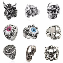 Buy Tiger Ring Men Jewelry Vintage Punk Mens Rings Steampunk Hollow Stainless Steel Rings Anime Skull Hip Hop Dropshipping for $1.13 in AliExpress store