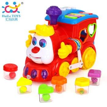 Bébé IQ Train Sur Roues Bande Dessinée Intelligente Jouet Musical, batterie Alimenté Center D'apprentissage Jouet Éducatif Toys Pour Enfants De Noël Cadeaux