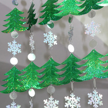 DIY sequined curtains Christmas drop ornaments festive decorations supplies Christmas tree snowflakes sequins(China)
